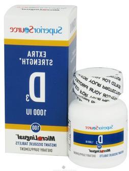 Superior Source Vitamin D3 Extra Strength 1,000 IU 100 Tab