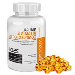 Bronson Natural Vitamin E Complex 400 I.U. , 100 Softgels