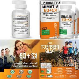 Bronson Vitamin K2  with D3 Supplement - Vitamin D & K Compl