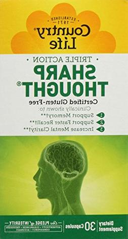 COUNTRY LIFE VITAMINS SHARP THOUGHT, 30 VCAP