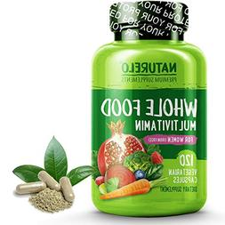 NATURELO Whole Food Multivitamin for Women - Iron Free - Nat