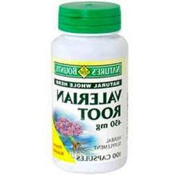 Nature's Bounty Valerian Root 450 mg 100 ea