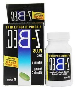 Z-BEC B Complex Supplement Plus Zinc Vitamin E and Vitamin C