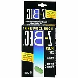 Z-Bec Smart Care B-Complex Supplement, Caplets, 60 ct Pack o