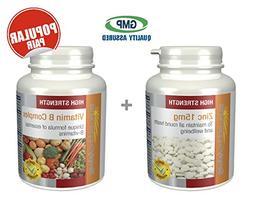 SimplySupplements Zinc 15mg 120 Tablets + Vitamin B Complex