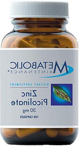 Metabolic Maintenance - Zinc Picolinate - 30 mg, Superior Ab